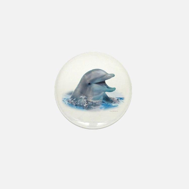 Happy Dolphin Mini Button