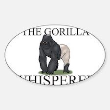 The Gorilla Whisperer Oval Decal