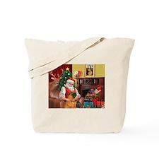 Santa's Shar Pei Tote Bag