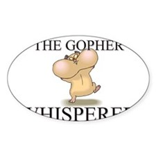 The Gopher Whisperer Oval Decal
