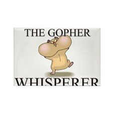 The Gopher Whisperer Rectangle Magnet