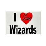 I Love Wizards Rectangle Magnet (10 pack)