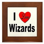 I Love Wizards Framed Tile