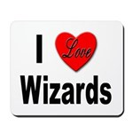 I Love Wizards Mousepad