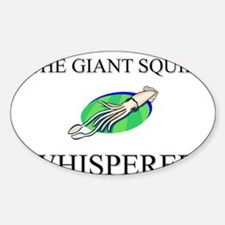 The Giant Squid Whisperer Oval Decal