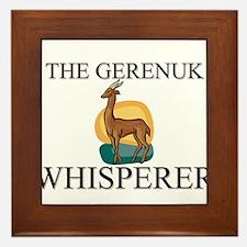 The Gerenuk Whisperer Framed Tile