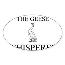 The Geese Whisperer Oval Decal