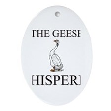 The Geese Whisperer Oval Ornament