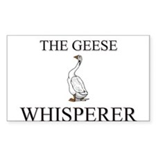 The Geese Whisperer Rectangle Decal