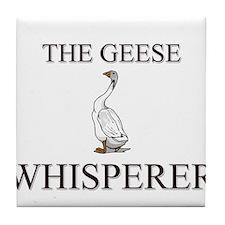 The Geese Whisperer Tile Coaster