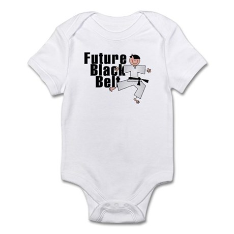Future Black Belt Infant Creeper Karate Body Suit
