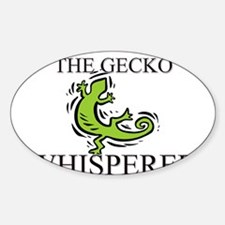 The Gecko Whisperer Oval Decal