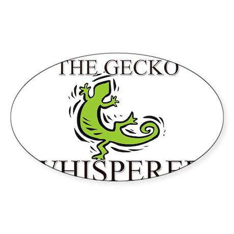 The Gecko Whisperer Oval Sticker