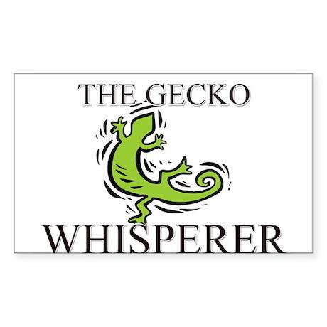 The Gecko Whisperer Rectangle Sticker