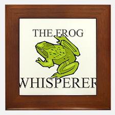 The Frog Whisperer Framed Tile