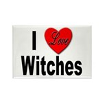 I Love Witches Rectangle Magnet (10 pack)