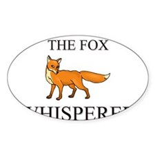 The Fox Whisperer Oval Decal