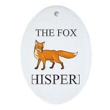 The Fox Whisperer Oval Ornament