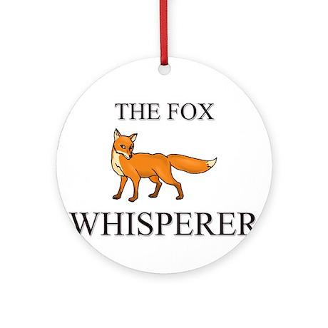 The Fox Whisperer Ornament (Round)