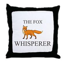 The Fox Whisperer Throw Pillow