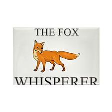 The Fox Whisperer Rectangle Magnet
