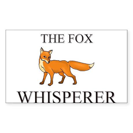 The Fox Whisperer Rectangle Sticker