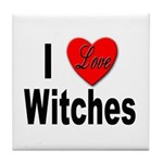 I Love Witches Tile Coaster
