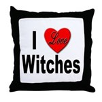 I Love Witches Throw Pillow