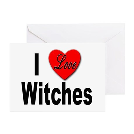 I Love Witches Greeting Cards (Pk of 10)