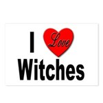 I Love Witches Postcards (Package of 8)