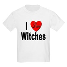 I Love Witches Kids T-Shirt