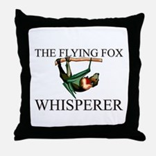 The Flying Fox Whisperer Throw Pillow
