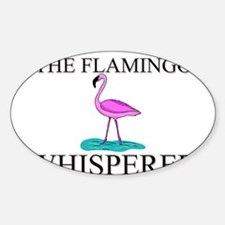 The Flamingo Whisperer Oval Decal