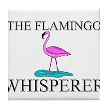 The Flamingo Whisperer Tile Coaster