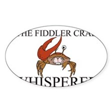 The Fiddler Crab Whisperer Oval Decal