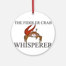 The Fiddler Crab Whisperer Ornament (Round)