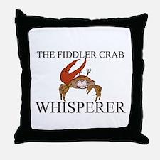The Fiddler Crab Whisperer Throw Pillow