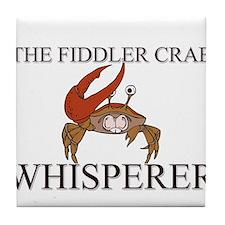 The Fiddler Crab Whisperer Tile Coaster