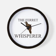 The Ferret Whisperer Wall Clock