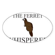 The Ferret Whisperer Oval Decal