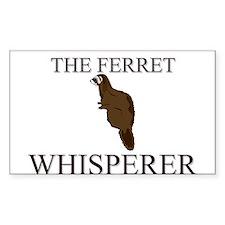 The Ferret Whisperer Rectangle Decal