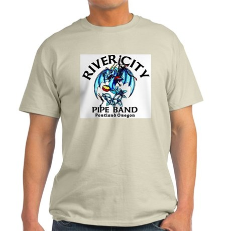 Piping/Drumming Dragon Ash Grey T-Shirt