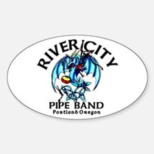 Piping/Drumming Dragon Oval Decal