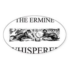 The Ermine Whisperer Oval Decal