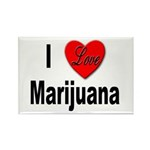 I Love Marijuana Rectangle Magnet (10 pack)