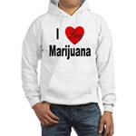 I Love Marijuana (Front) Hooded Sweatshirt