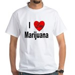I Love Marijuana (Front) White T-Shirt