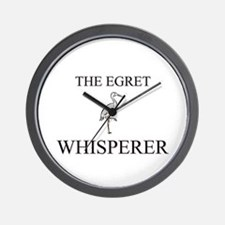 The Egret Whisperer Wall Clock