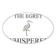 The Egret Whisperer Oval Decal
