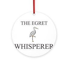 The Egret Whisperer Ornament (Round)